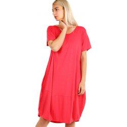 6a3fe7a5000b Volné plážové jednobarevné šaty 349280 růžová od 575 Kč - Heureka.cz