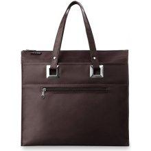 Odolná kabelka na rameno ceněné bag street hnědá