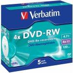 Verbatim DVD-RW 4,7GB 4x, 5ks