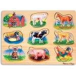Melissa & Doug puzzle s úchyty a zvukem farma