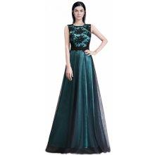 Dámské společenské šaty s krajkou zelená 265ada0280