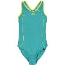 Slazenger Racer Back Swimsuit dětské Baltic Blue lem