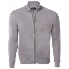 Armani Jeans elegantní svetr na zip od Šedý
