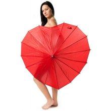 Dámský holový deštník srdce HEART červený