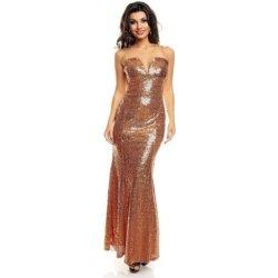 Dlouhé zlaté šaty na ples od 1 299 Kč - Heureka.cz 56f269b0072