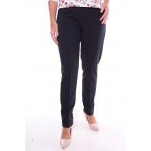 93752e04b6a Dámské elastické elegantní kalhoty na bocích s gumou nadměrné - tmavomodré