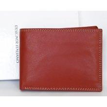 Kvalitní kožená peněženka bez značek a nápisů červená