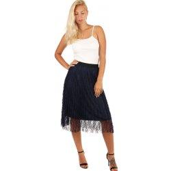 5eef928b834 Dámská sukně Glara dámská společenská tylová midi sukně tmavě modrá 249127