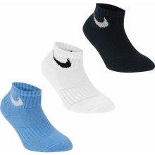 Nike Swoosh Quarter ponožky Pack of 3 dětské cb57c61971