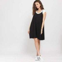 Urban classics Ladies Jersey Pleated Slip dress černá 2d4b17b0a42