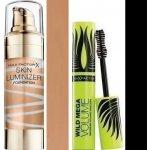Max Factor Skin Luminizer Foundation make-up 80 Bronze 30 ml + Max Factor Wild Mega Volume řasenka black 11 ml dárková sada