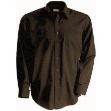 f5ee143bd30 Pánská košile dlouhý rukáv - hnědá