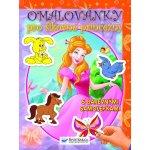 Omalovánky pro šikovné princezny s barevnými samolepkami