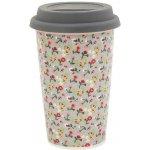 Krasilnikoff Cestovní porcelánový termo hrnek Flowers 0,3l
