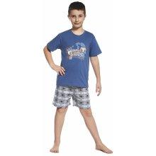 CORNETTE chlapecké pyžamo 790/55 Blue monkey tyrkysová