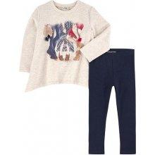 fdf62930394 Mayoral dívčí tričko s potiskem a legínami béžovo modré