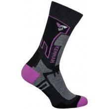 Syntex ponožky Kennah Lyžařské Ag+ SK 0045 dámské tyrkysová-oranžová