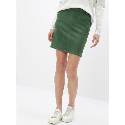 Vila pouzdrová sukně v semišové úpravě Faddy zelená