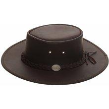 d50d80da8fa Barmah Hats Pánský kožený klobouk Australák hnědý