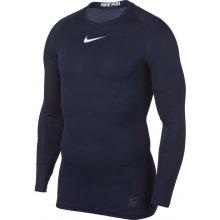 Nike Pro Top s dlouhým rukávem TMAVĚ MODRÁ