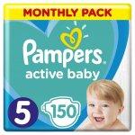 Pampers Active Baby-Dry 5 Junior 11-18 kg 150 ks