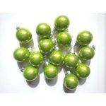 Sada skleněných baněk 2,5cm ( 24ks ) zelená