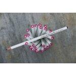 Svatební tužka s rytinou a růžovým krystalem Swarovski