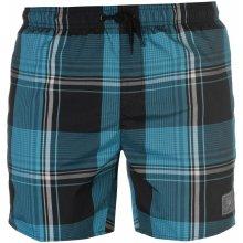 Speedo Print Check Swim Shorts Mens Black/Green