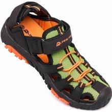 ALPINE PRO Chlapecké sandály Dislo černo-oranžové