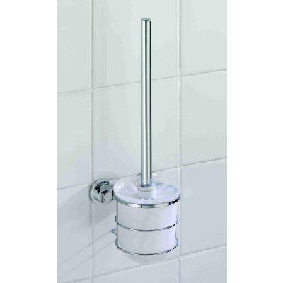 Wenko nástěnná WC souprava PowerLoc BOVINO nerez