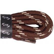Kulaté trekingové tkaničky hnědo béžové 110 cm