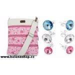 Dariana Middle kabelka Hello Kitty růžovo-bílá