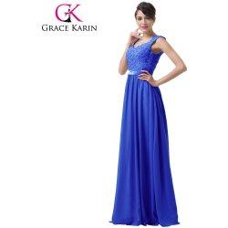 Grace Karin Modré společenské šaty s výšívaným korzetem CL6231-2 Modrá 337251c765