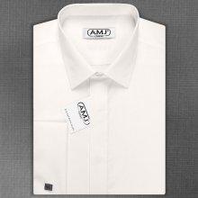 5aa8eeea801f AMJ pánská Košile s dlouhým rukávem Bílá JDA018MK