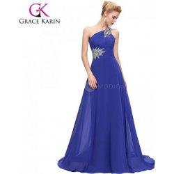 a5d20de68274 Grace Karin královsky modré plesové šaty se zdobeným ramínkem CL2949-5 Modrá