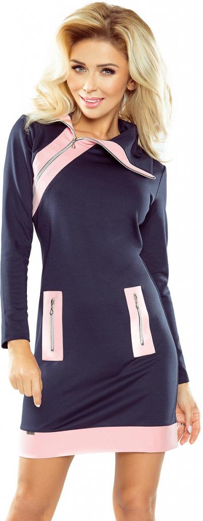 721effb1a28 Numoco dámské šaty Zippy se třemi zipy růžovotmavě modrá alternativy -  Heureka.cz