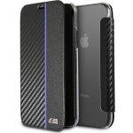 Pouzdro BMW Carbon Book iPhone X - Navy