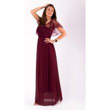 e634bfad57a Eva   Lola · Dámské dlouhé společenské šaty s krajkovým volánem