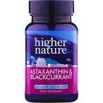 Higher Nature Astaxanthin a černý rybíz 90 tbl.