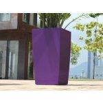 GreenSun Samozavlažovací Květináč ICES 12x12 cm, výška 23 cm, fialový