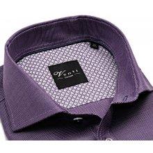 Venti Slim Fit – fialová košile s bílým rastrováním - extra prodloužený  rukáv b79a9414ee