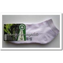 de344b6d096 Pesail dámské bambusové terno kotníkové ponožky bílé