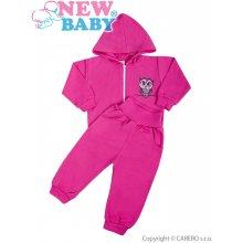 NEW BABY soupravička New Baby Sovička růžová Růžová 2-dílná