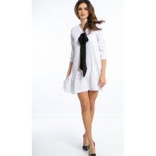 efca52f5fa9 Krátké šaty s velkou mašlí bílá