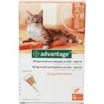 ADVANTAGE 40mg spot on pro kočky ampule 4x 0.4ml a.u.v.