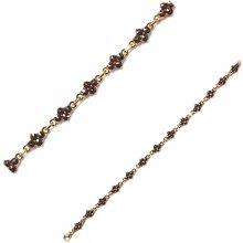 Náramek zlatý granátový Au750 063