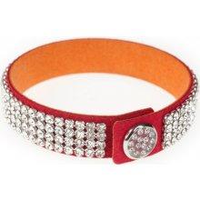 Swarovski Dazzle Crystal červený třpytivý náramek 2210