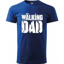 Bezvatriko.cz 0273 Vtipné tričko pro tatínka New Walking Dad Modrá pánské  tričko 9e98fb8421