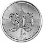 Maple Leaf stříbrná mince 1 Oz - 30. výročí 2018