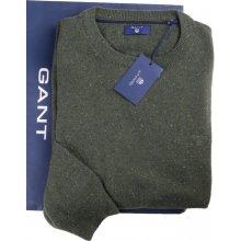 GANT pánský vlněný zelený svetr 86551